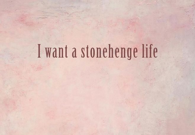 I want a stoenhenge life book cover by Jules Swales