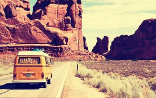 VW bus roadtrip in USA